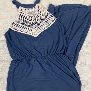 Ultra Flirt Blue Maxi Dress